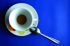 Finished Coffee in a ceramic cup Royalty Free Stock Images