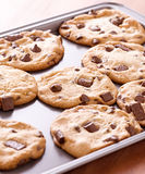 Finished cookies right out of the oven Royalty Free Stock Photo