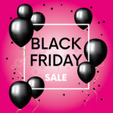 The finished design of the poster, banner or flyer `Black Friday`. The finished design of the poster, banner or flyer `Black Friday`. Vector illustration with Stock Photography