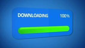 Finished downloading, successful transmission of information, fast internet. Stock footage Stock Photo