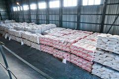 Finished goods warehouse. Stock Photos