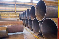 Finished goods warehouse in metallurgical plant Stock Photography