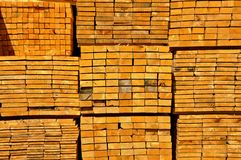 Finished lumber for sale in Romania Royalty Free Stock Image