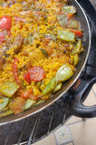 Almost finished paella Stock Images