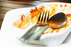 Finished pasta plate Stock Photography