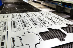 Finished product from Laser cutting machine. Finished product from Laser cutting metal machine stock photo