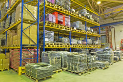 Finished products warehouse Royalty Free Stock Photography