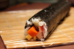 Finished roll of maki Royalty Free Stock Images