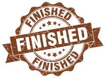 Finished seal. stamp. Finished round seal isolated on white background. finished Royalty Free Stock Image