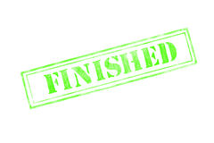 `FINISHED ` rubber stamp over a white background. Design Royalty Free Stock Image