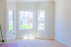 Free Finished Sheetrock In New Home Construction Stock Photography - 120930412