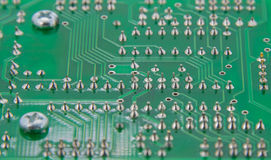 The finished Solder electronics print circuit board Stock Photography
