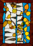 Finished stained glass window royalty free stock images