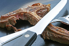 Finished Steak Dinner Royalty Free Stock Image