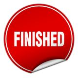 Finished sticker. Finished round sticker isolated on wite background. finished Stock Photography