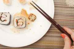 Finished with Sushi Stock Photos