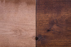 Finished and Unfinished Black Walnut Stock Photos