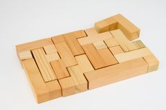 Almost finished Wood Puzzle Royalty Free Stock Photography