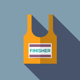 Finisher Singlet Of Marathon Runner. Vector Illustration Royalty Free Stock Photography