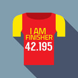 Finisher Tee Of Marathon Runner. Vector Illustration Royalty Free Stock Photos