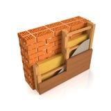Finishing brick wall. 3d illustration. Finishing brick wall tree wall construction manual Royalty Free Stock Image