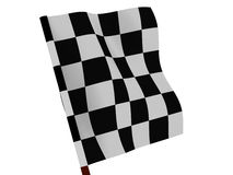 Finishing checkered flag Stock Photos