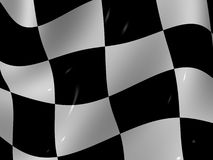 Finishing checkered flag. Very beautiful three-dimensional illustration. Finishing checkered flag. 3d Stock Image