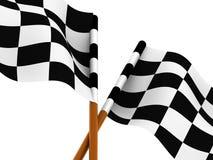 Finishing checkered flag. Very beautiful three-dimensional illustration. Finishing checkered flag. 3d Stock Photos