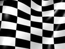 Finishing checkered flag. Graphic three-dimensional illustration. Finishing checkered flag. 3d Royalty Free Stock Photography