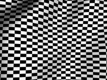 Finishing checkered flag. Graphic three-dimensional illustration. Finishing checkered flag. 3d Stock Photography