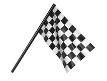 Finishing checkered flag. 3d Stock Photo