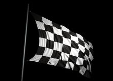 Finishing checkered flag Royalty Free Stock Photos