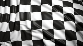 Finishing checkered flag Stock Image