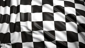 Finishing checkered flag. 3d formula one finishing checkered flag Stock Image