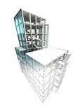 Finishing concept of architectural building plan render. Illustration Royalty Free Stock Image