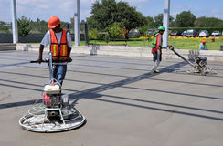Finishing concrete Stock Image