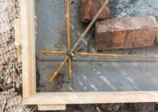 Finishing concrete Stock Image
