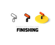 Finishing icon in different style. Finishing icon, vector symbol in flat, outline and isometric style Stock Photo