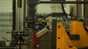 Finishing metal working on lathe grinder machine. Metalworking industry: finishing metal working on lathe grinder machine stock video footage
