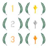 Finishing Places Laurel Wreaths 1 Royalty Free Stock Images