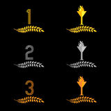 Finishing Places Laurel Wreaths 4 Royalty Free Stock Photography