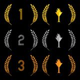 Finishing Places Laurel Wreaths 2 Royalty Free Stock Photos