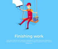 Finishing Work Design Banner Concept Royalty Free Stock Photography