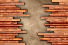Finissage en bois de plancher de planches sur le ciment beige illustration de vecteur