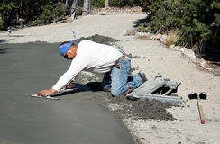 Finisseur de ciment Image libre de droits