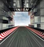 Finissez le panneau au-dessus du champ de courses dans l'espace moderne de ville illustration de vecteur