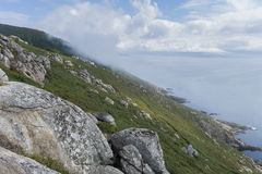 Finisterre cliffs. Stock Image