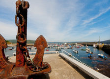 Finisterre harbour, Galicia, Spain Stock Image