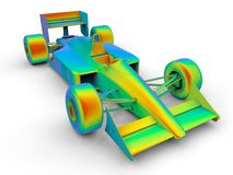 Finite Element Analysis racing car Royalty Free Stock Images