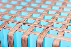 Finition intérieure décorative en bois colorée photographie stock libre de droits